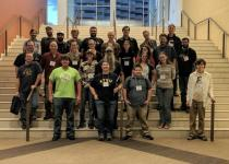 ETSU alumni and students at the 2018 Society for Vertebrate Paleontology Meeting