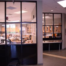 Windows to the Prep Lab